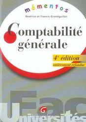 Memento comptabilite generale, 4eme edition (4e édition) - Intérieur - Format classique