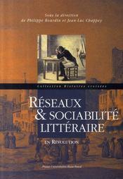 Réseaux et sociabilité littéraire en révolution - Intérieur - Format classique