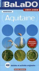 Guide Balado ; Aquitaine (Edition 2007-2008) - Intérieur - Format classique