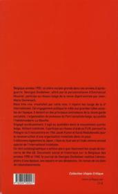 Sur les traces de la révolution ; itinéraire d'un trotskiste belge - 4ème de couverture - Format classique
