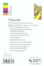 Pinocchio - 4ème de couverture - Format classique