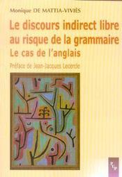 Discours Indirect Libre Au Risque De La Grammaire (Le) Le Cas De L'An Lais - Intérieur - Format classique