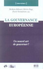 La gouvernance européenne ; un nouvel art de gouverner ? - Intérieur - Format classique