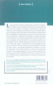 La gouvernance européenne ; un nouvel art de gouverner ? - 4ème de couverture - Format classique