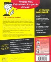 L'Histoire de France pour les Nuls - 4ème de couverture - Format classique