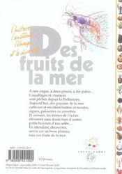 Des fruits de la mer - 4ème de couverture - Format classique