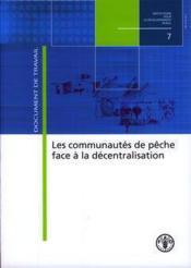 Communautes de peche face a la decentralisation (institutions pour le developpement rural n. 7) - Couverture - Format classique