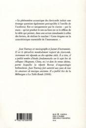 Notes & propos sur le clavicorde - 4ème de couverture - Format classique