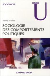 Sociologie des comportements politiques - Couverture - Format classique