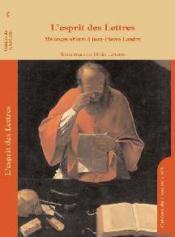 L'Esprit Des Lettres - Couverture - Format classique