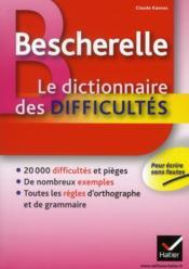 Dictionnaire des difficultés - Couverture - Format classique