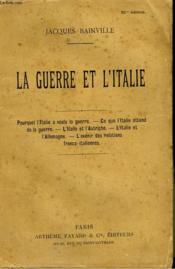 La Guerre Et L'Italie. - Couverture - Format classique