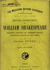 Oeuvres Dramatiques De William Shakespeare. Tome 3. - Couverture - Format classique