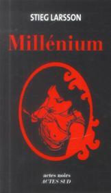 Millénium ; INTEGRALE T.1 A T.3 - Couverture - Format classique