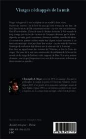 Visages réchappés de la nuit - 4ème de couverture - Format classique