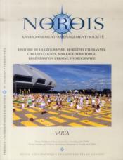 REVUE NOROIS N.230 ; histoire de la géographie, mobilités étudiantes, circuits courts, maillage territorial, régénération urbaine, hydrographie - Couverture - Format classique