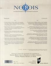 REVUE NOROIS N.230 ; histoire de la géographie, mobilités étudiantes, circuits courts, maillage territorial, régénération urbaine, hydrographie - 4ème de couverture - Format classique