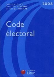 Code electoral 2008 - Intérieur - Format classique