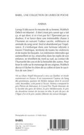 Anima - 4ème de couverture - Format classique