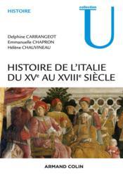Histoire de l'Italie du XVe au XVIIIe siècle - Couverture - Format classique