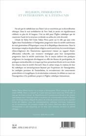 Religion, immigration et intégration aux Etats-Unis ; une communauté hispanique à New York - Couverture - Format classique