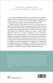 Religion, immigration et intégration aux Etats-Unis ; une communauté hispanique à New York - 4ème de couverture - Format classique