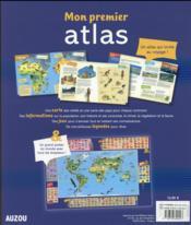 Mon premier atlas 2016 - 4ème de couverture - Format classique
