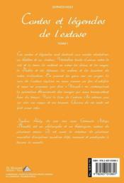Contes et légendes de l'extase - 4ème de couverture - Format classique