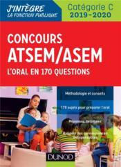 Concours ATSEM/ASEM ; l'oral en 160 questions (édition 2019/2020) - Couverture - Format classique
