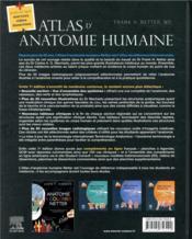 Atlas d'anatomie humaine - 4ème de couverture - Format classique