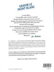 Gravir le Mont Blanc sans inquiéter ses parents - 4ème de couverture - Format classique