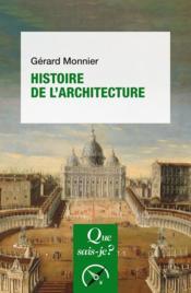 Histoire de l'architecture - Couverture - Format classique