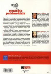 Le grand livre de la stratégie patrimoniale - 4ème de couverture - Format classique