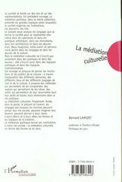La Mediation Culturelle - 4ème de couverture - Format classique