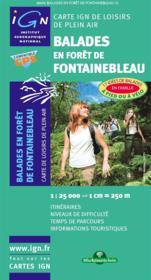 Balades en forêt de Fontainebleau - Couverture - Format classique
