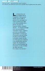Paris Recup' - 4ème de couverture - Format classique