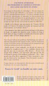 Vive le certif' ! - 4ème de couverture - Format classique