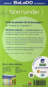 Guide Balado ; Normandie (Edition 2007-2008) - 4ème de couverture - Format classique