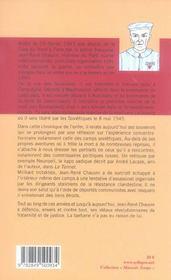 Trotskiste dans l enfer nazi - 4ème de couverture - Format classique