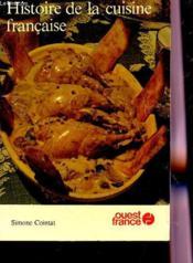 Histoire de la cuisine francaise - Couverture - Format classique