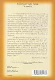 Sonates t.2 ; automne hiver - 4ème de couverture - Format classique