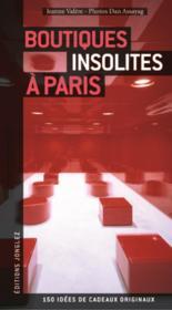 Boutiques insolites à Paris - Couverture - Format classique