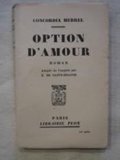 Option d'amour - Couverture - Format classique