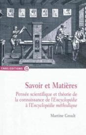 Savoir Et Matieres - Couverture - Format classique