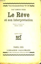 Le Reve Et Son Interpretation. Collection : Les Documents Bleus N° 19 - Couverture - Format classique