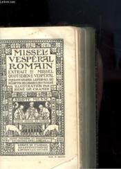 Missel Vesperal Romainextrait Du Miseel Quotidien & Vesperal - Couverture - Format classique