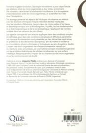 Principes de chimie redox en écologie microbienne - 4ème de couverture - Format classique
