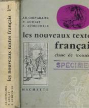 Les Nouveaux Textes Francais - Classe De Troisieme - Couverture - Format classique