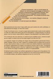 S'approprier le français ; pour une langue conviviale - 4ème de couverture - Format classique