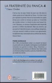 La fraternité du Panca T.4 ; soeur Onden - 4ème de couverture - Format classique